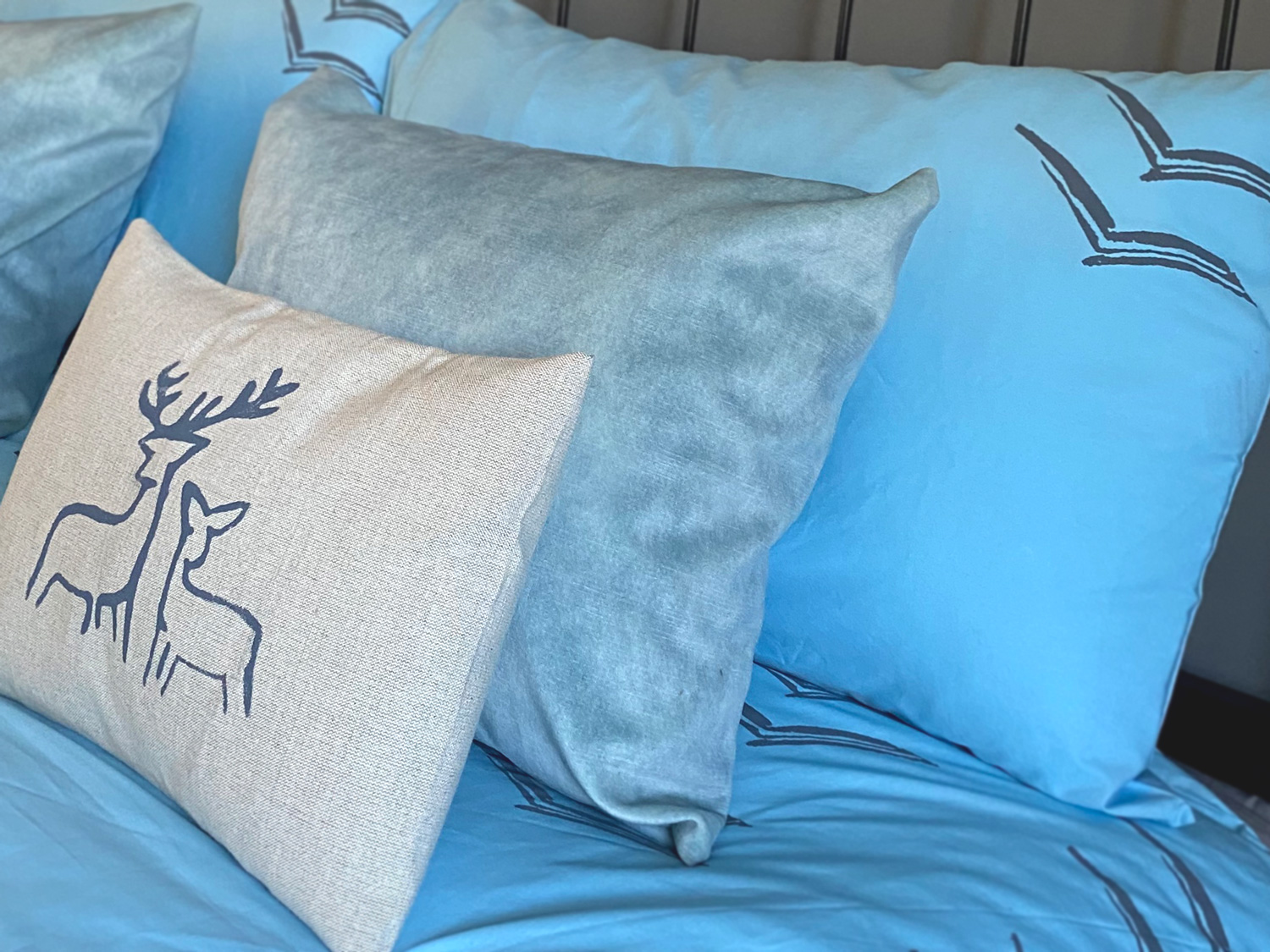 Cliff Cottage Bespoke Linens by Clement Design