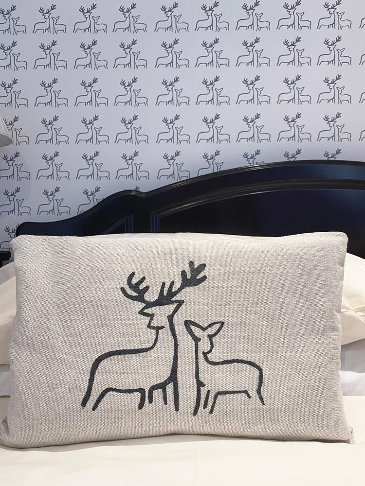 Deer Wallpaper Cushions at Applecross Inn by Clement Design